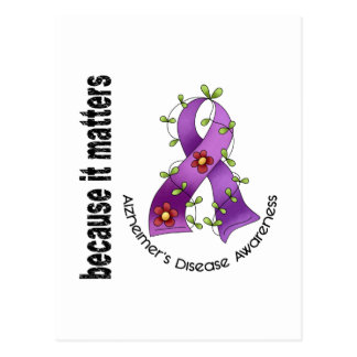 Alzheimers Disease Flower Ribbon 3 Postcard