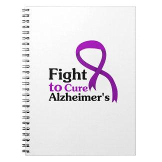 Alzheimers Disease Purple Ribbon Fight Notebook