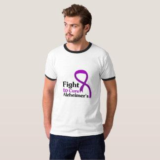 Alzheimers Disease Purple Ribbon Fight T-Shirt