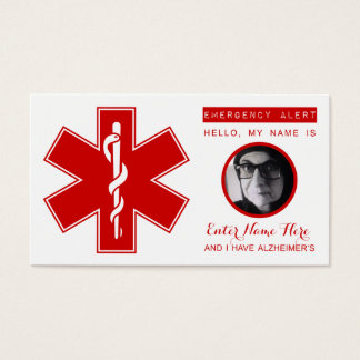 alzheimers emergency contact card