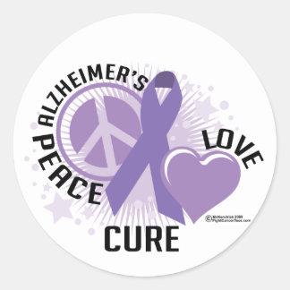 Alzheimers PLC Classic Round Sticker