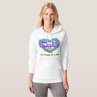 alzheimer's - Praying for a Cure Hoodie