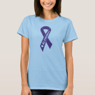 Alzheimer's Purple Ribbon Womens T-shirt