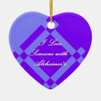 Alzheimer's Scandinavian Heart Ornament