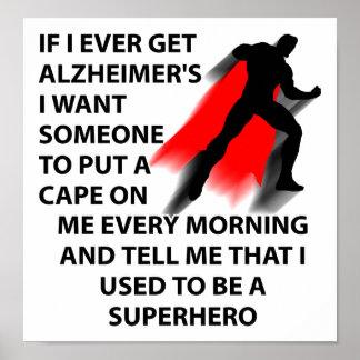 Alzheimer's Superhero Funny Poster