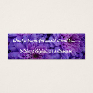 Alzheimer's Support Bookmark Mini Business Card