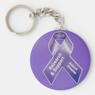 Alzheimer's Support Groupie Ribbon Keychain