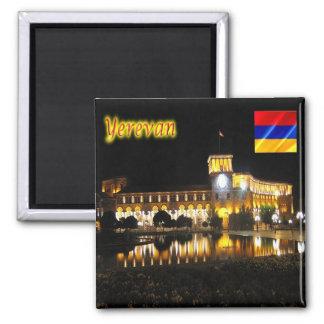 AM - Armenia - Yerevan -  Republic Square at Night Magnet
