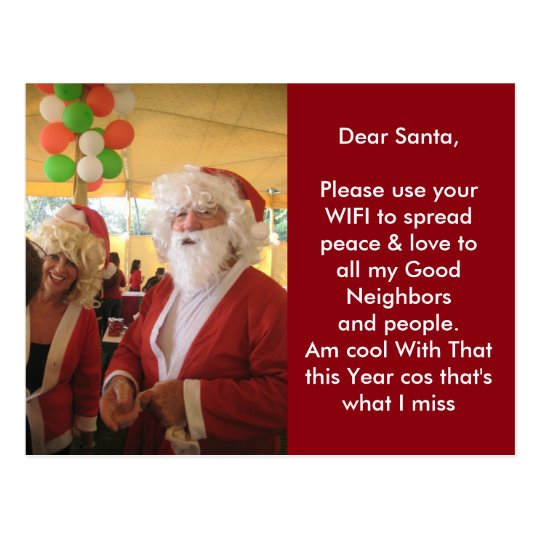 Am cool with that Santa Post Card