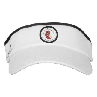 AM Farms Custom Knit Visor, White Visor