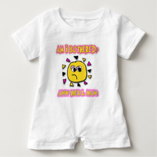 Am i bothered aww hell naw baby romper