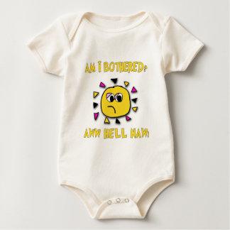 Am i bothered aww hell naw-dark baby bodysuit