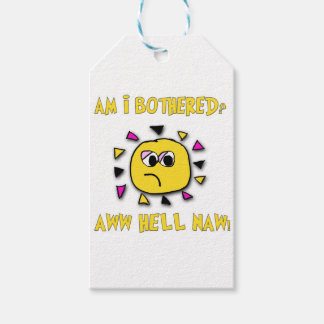 Am i bothered aww hell naw-dark pack of gift tags