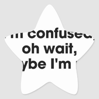 Am I Confused Star Sticker