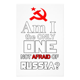 Am I the Only One Not Afraid of Russia? Stationery