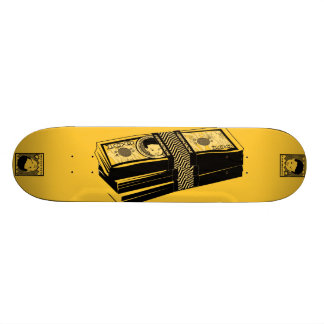 """AM Radio """"Bone Money"""" Skate Board Deck"""