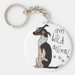 Am Wild Animal Basic Round Button Keychain