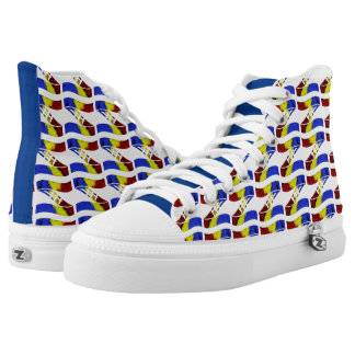 Ama-Zam Youth High Tops Blue Red Yellow