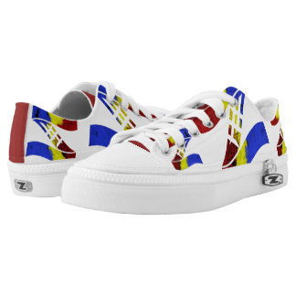 Ama-Zam Youth Low Tops Blue Red Yellow