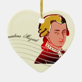 Amadeus Mozart Ceramic Heart Ornament