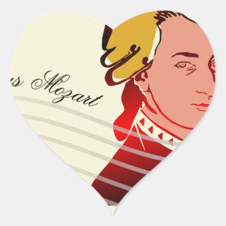Amadeus Mozart Heart Sticker