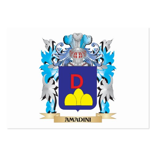 Amadini Coat Of Arms Business Card Template