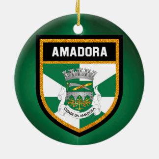 Amadora  Flag Ceramic Ornament