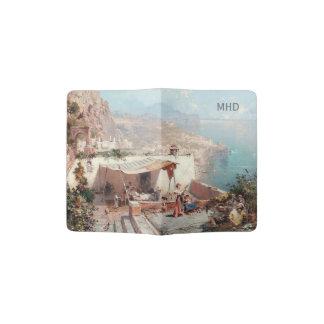 Amalfi art custom monogram passport cover