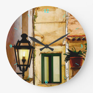 Amalfi backstreets wall clock