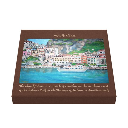 "Amalfi Coast - 12"" x 12"", 1.5"", Single Canvas Print"