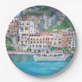 "Amalfi Coast - Custom Paper Plates 9"""
