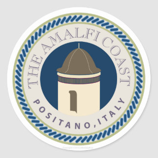 Amalfi Coastr-Sticker Classic Round Sticker