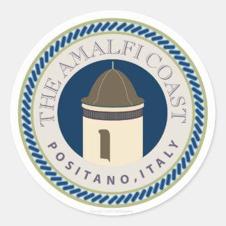 Amalfi Coastr-Sticker Round Sticker