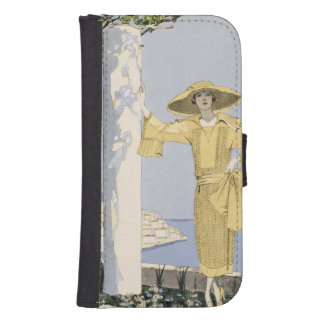 Amalfi, illustration of a woman in a yellow dress phone wallet case