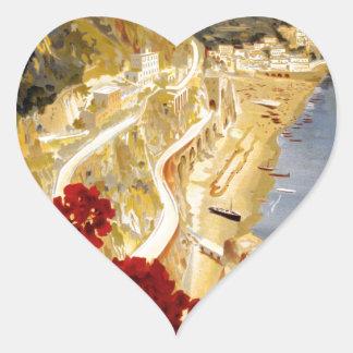 Amalfi, Italia Heart Sticker