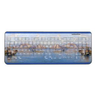 Amalfi Italy Ocean Coast Town Wireless Keyboard