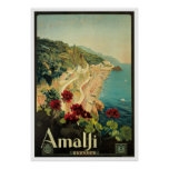 Amalfi, Italy vintage travel poster