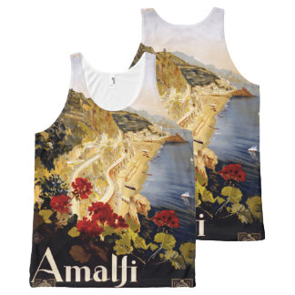 Amalfi Italy Vintage Travel Poster tank top