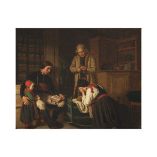Amalia Lindegren - The Last Bed of The Little One Canvas Print