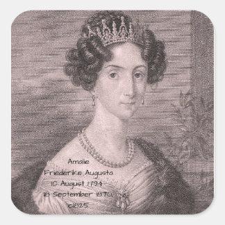 Amalie Friederike Augusta c1825 Square Sticker