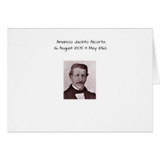 Amancio Jacinto Alcorta Card