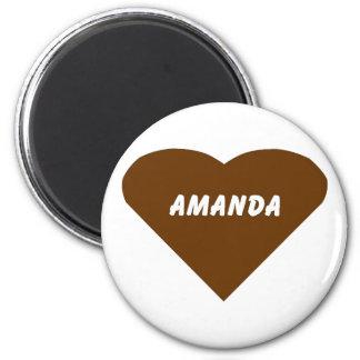 Amanda 2 Inch Round Magnet