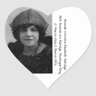 Amanda Christina Elizabeth Aldridge Heart Sticker
