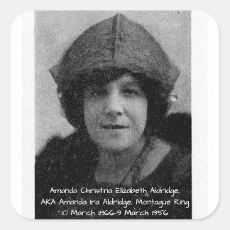 Amanda Christina Elizabeth Aldridge Square Sticker