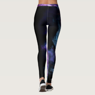 """Amanda"" Coach Purple Abstract with strip Leggings"