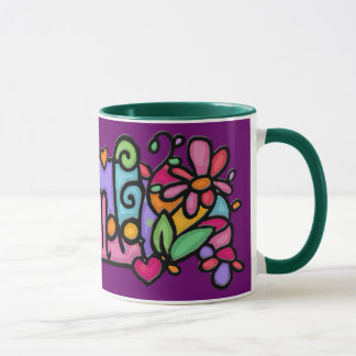 AMANDA Custom painted coffee cup