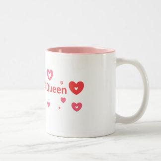Amanda Is Queen Two-Tone Coffee Mug