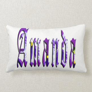 Amanda, Name, Logo, Lumbar Cushion. Lumbar Pillow