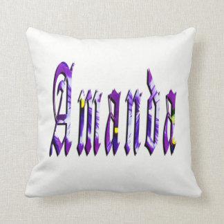 Amanda, Name, Logo, Throw Cushion. Throw Pillow