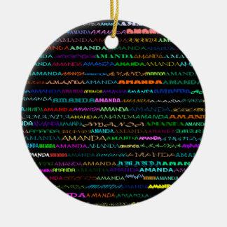 Amanda Text Design I Ornament
